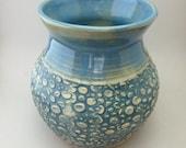 Textured Blue Vase