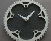 Bicycle Gear Clock - Campagnolo Gray  |  Bike Clock  | Wall Clock | Recycled Bike Parts Clock