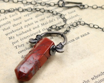 Russet Necklace in Sterling Silver and Jasper