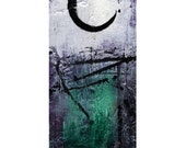 "Enso Zen Painting - Green White Spiritual art archival print from original painting ""Enso No. mm2"" by Kathy Morton Stanion EBSQ"