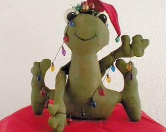 Christmas Frog Sewing Pattern Primitive PDF  Instant Download