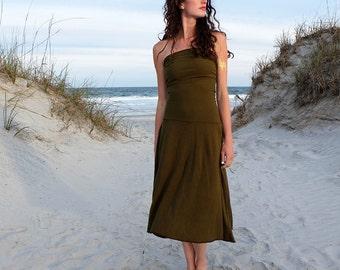 ORGANIC Love Me 2 Times Wanderer Below Knee Dress ( light hemp and organic cotton knit ) - organic hemp dress