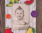 CATERPILLAR Baby Picture Frame - Hand Painted Wood