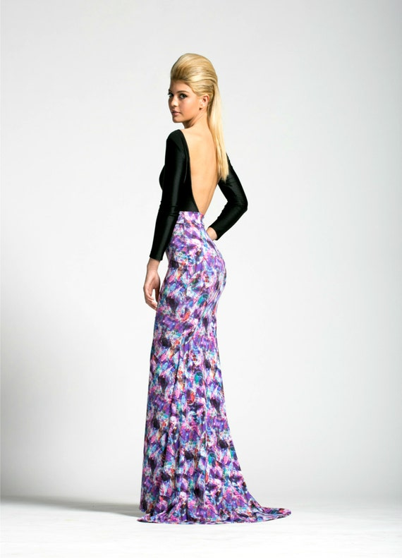 SALE Crystal Prisms Maxi Skirt