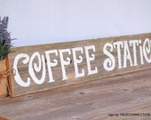 Coffee Bar Sign, Large Bar Signs, Reception Bar Sign, Rustic Coffee Station Sign, Romantic Weddings Hand Painted Barn Wood. Barn Wedding