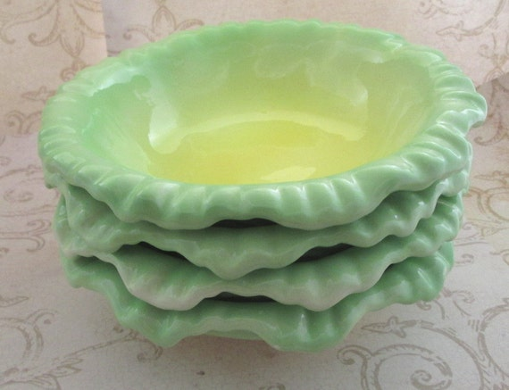 Ceramic Salad Bowls Vintage 1960s Soup Bowl Yellow Bowl