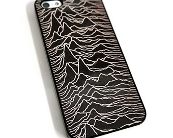 Black Joy Division Unknown Pleasures iphone Hard Case