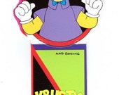 Krusty the Clown Bookmark Vintage 90's school supplies I Didn't Do it! The Simpsons