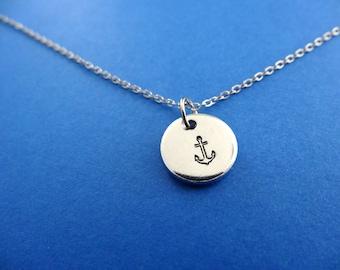Anchor Necklace - Nautical Necklace - Small Anchor Pendant