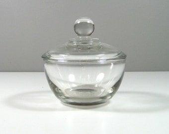 Anchor Hocking Presence Covered Glass Sugar Bowl