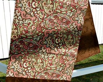 Table Runner and 4 Placemats - Brown