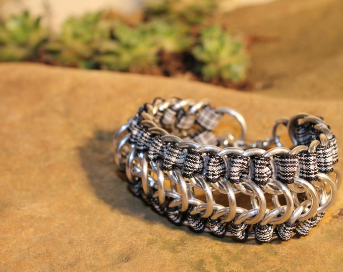 Menzies Tartan Chainmaille Bracelet