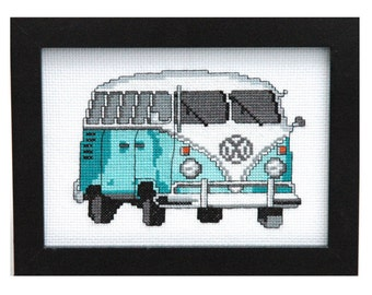 Vintage VW Bus Cross Stitch Pattern Instant Download