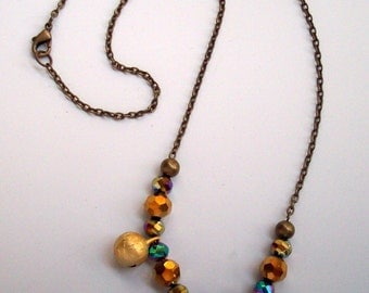 Golden Jingle Bells Necklace Christmas Holiday