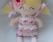 RESERVED for VICTORIA    My friend Lottie--a handmade cloth doll
