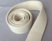 "1.25"" Cotton webbing x 54 Yard roll / Heavy duty / Raw greige natural /32mm / Bag handles, bag strap for tote bag / upholstery webbing"