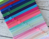 FOE Elastic Headbands with Interchangeable Loop Clip Inserts Lots of Colors!