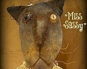 Miss Sasslefrass Cat E-Pattern