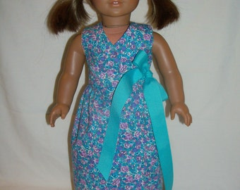 American Girl Purple/Blue Floral Maxi Dress for 18 Inch Dolls
