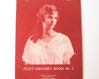 J P Coats Crochet Book No. 4 from the 1910's