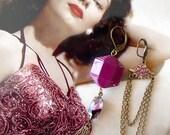 Marsala Earrings - Mismatched Earrings - Asymetric - Vintage Findings - Chandelier Earrings - Merlot II Earrings (SD0894)