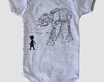 Graphic baby bodysuit, My Star Wars AT-AT Pet, baby shower gift, first birthday gift, baby unisex onesie, funny baby fashion, 6 months gift