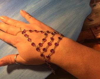 Pink crystal Slave Bracelet