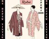 Vintage Sewing Pattern Instructions 1920's Flapper Easy Kimono Robes Ebook PDF Depew 3039 -INSTANT DOWNLOAD-