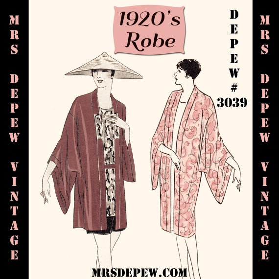1920s Patterns – Vintage, Reproduction Sewing Patterns 1920s Flapper Easy Kimono Robes Ebook PDF Depew 3039 -INSTANT DOWNLOAD- $7.50 AT vintagedancer.com