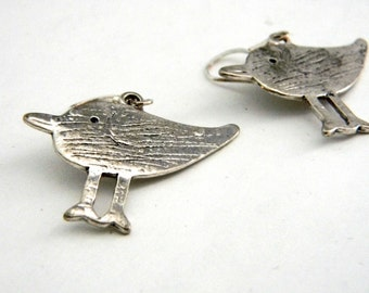 Silver Bird Earrings Dangle Earrings