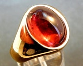 AAAA Red Rubellite Tourmaline   16x12mm  10.07 Carats   in Heavy 14K gold Mens ring 20 grams C1612 1434