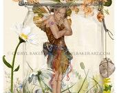 Fairy Art Print - Fairy Decor - Fairy Nursery Art - Whimsical Fairy Art - Girls Room Decor - Garden Fairies - Flower Fairies - Fairies