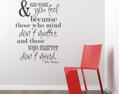 Be Who You Are Seuss Wall Decals Quote - Vinyl Wall Words