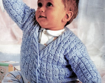 Baby Boy Knitting Pattern, V Neck Baby Sweater Knitting Pattern, Newborn & Toddler Knitting Pattern, INSTANT Download Pattern PDF (2331)
