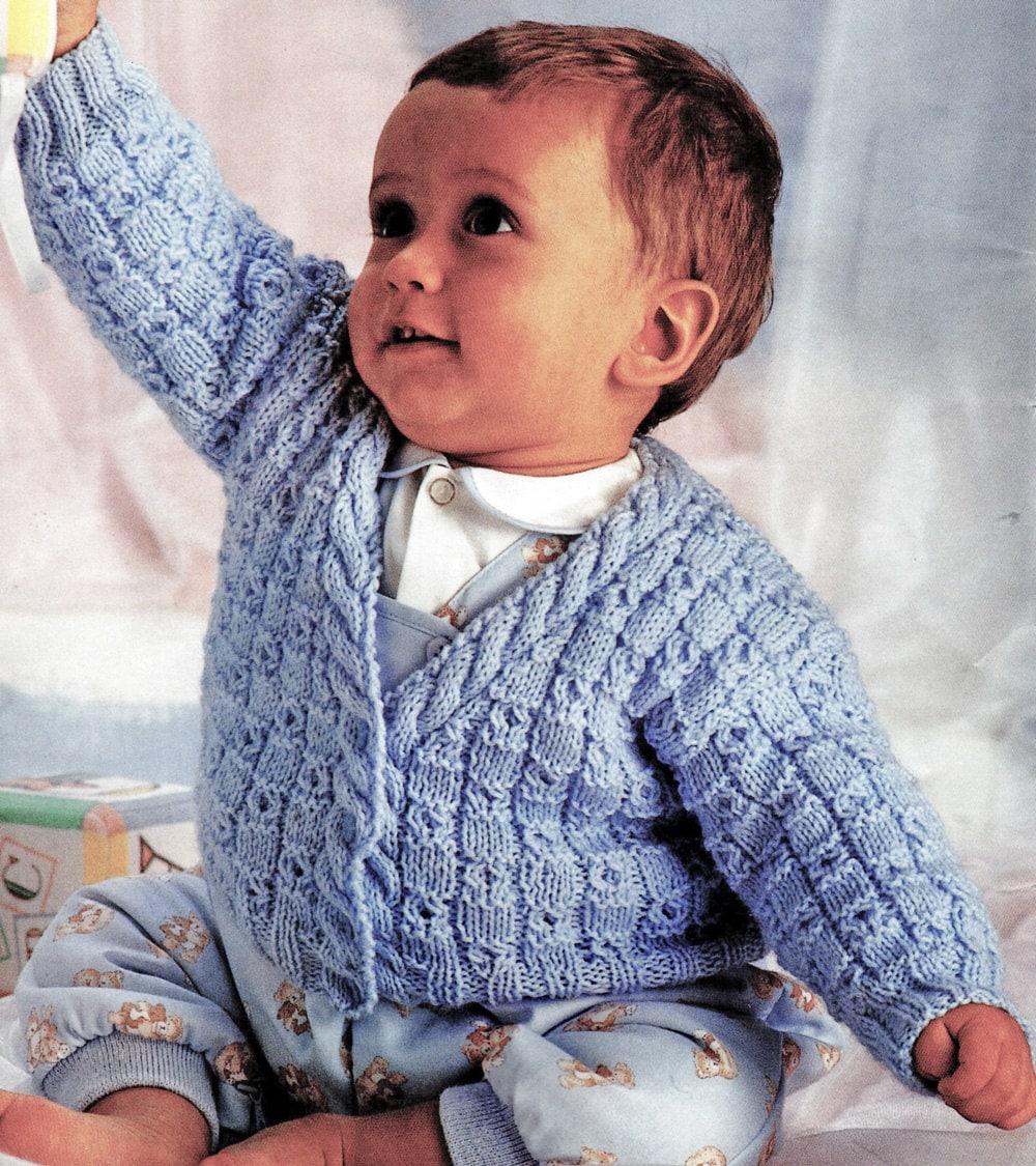 Baby Boy Knitting Pattern V Neck Baby Sweater Knitting