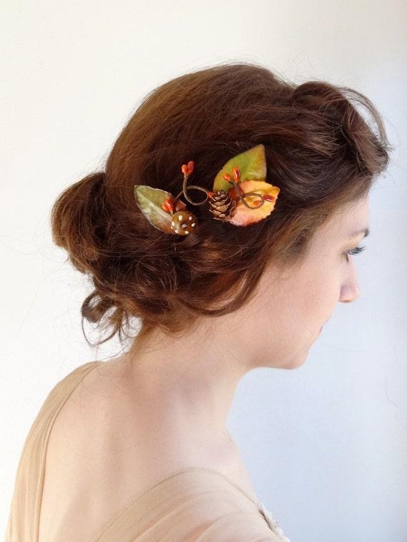 fall hair accessories autumn wedding fall bridal by ...