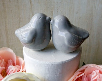 Snuggling Love Bird Cake Topper