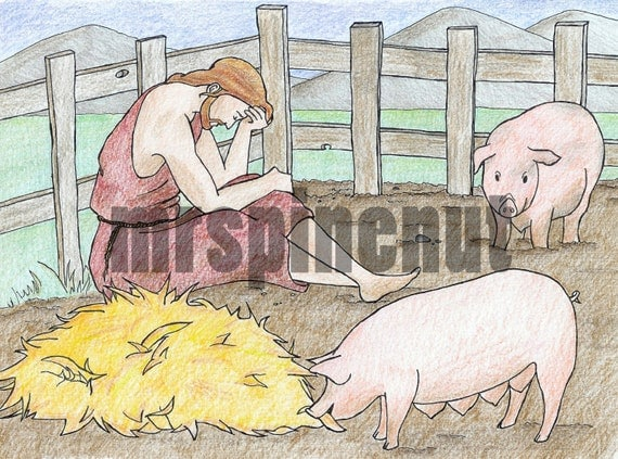 prodigal son parables of jesus bible colouring page - Bible Coloring Pages Prodigal Son