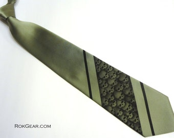 Custom skull necktie over 50 different colors available