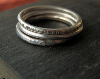 Sterling silver handcrafted stacking ring / add a band / 925 stacking ring / build a stacking ring set / layering ring / wedding ring