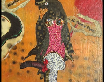 BLACKBIRD SINGING & DANCING in the Dead of Night by Lauretta Lowell
