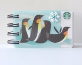 STARBUCKS HOLIDAY or CHRISTMAS Gift Card Spiral Book or Notebook
