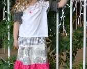 Maxi Skirt, tiered skirt, bohemian skirt, BOHO, Spring skirt, toddler skirt, long skirt, Easter skirt,sizes 18 months to 8Y