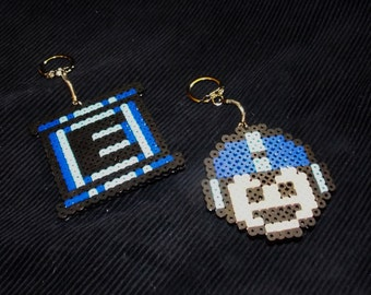 Nintendo Mega Man Perler Key Chain, Backpack Decoration