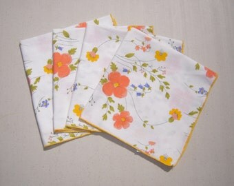 Vintage Vera Napkins Colorful Wildflower Garden