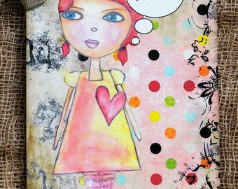French Girl Merci Thank You Gift Tags or Hang Tags #621
