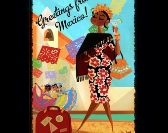 Greetings from Mexico - Print