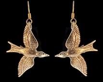 Bird Earrings Bronze Mocking Jay Earrings Bird Charm Bird Jewelry Mocking Jay Jewelry Bird Earrings Bronze Earrings Animal Earrings Feathers