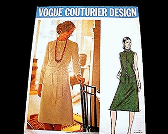 1960s Vogue Couturier Pattern, 60s Dress Pattern Designer MICHAEL of London Misses size 12 Vintage Sewing Pattern