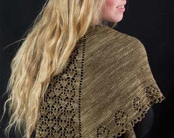 Double Diamond Shawl Knitting Pattern - PDF